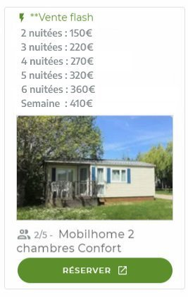 offre mobilehome 2 chambres