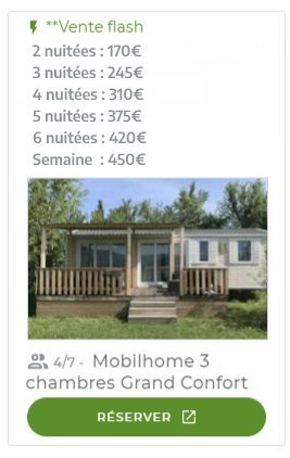 offre mobilehome 3 chambres